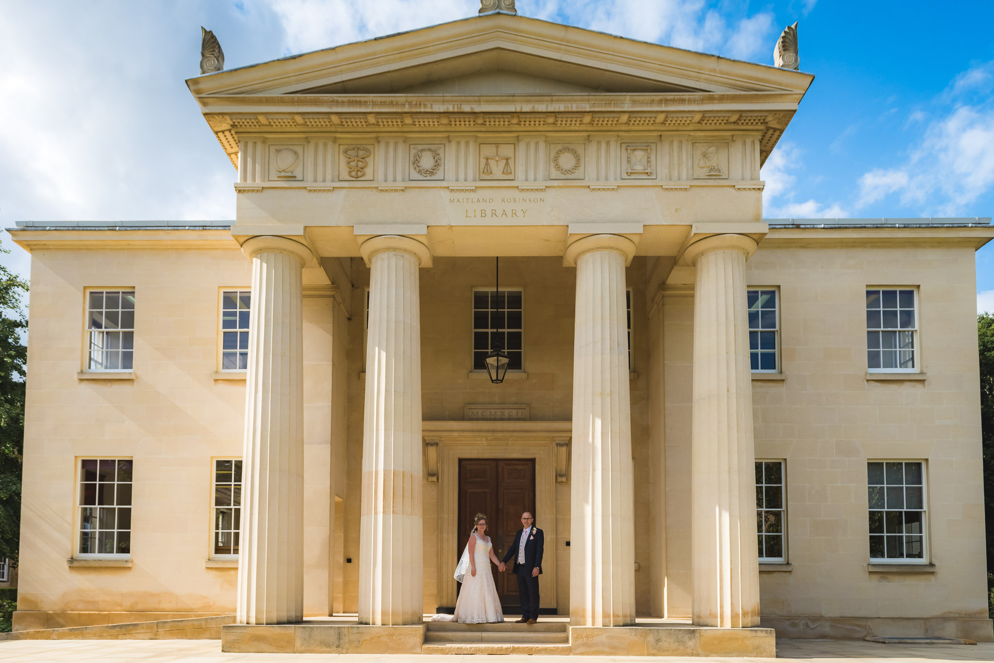 Downing College wedding photography – Elaine & Richard